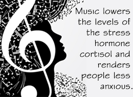 """music intervention as anxiety and stress relief In a recent study with 1,369 participants, music intervention had a  """"music for  stress and anxiety reduction in coronary heart disease patients."""