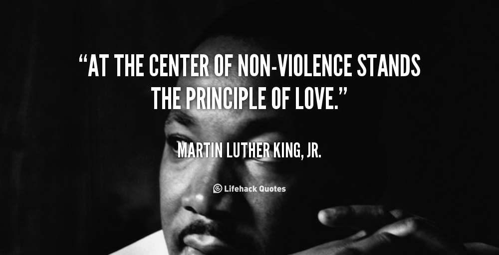dr martin luther kings strategy of non violent resistance Quotes on nonviolence by dr martin luther king jr  we recognize martin luther king jr and his  about nonviolent resistance is that it is based on the.